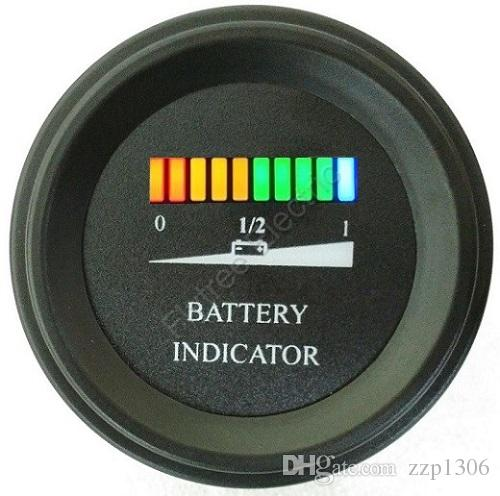 Round LED Battery Charge Indicator meter battery level indicator For on 12 volt battery indicator, golf cart horn, yamaha charge indicator, golf cart tachometer, golf cart turn signal indicator, battery condition indicator, golf cart batteries review, car battery indicator, charge 24v led indicator, golf cart batteries ratings, 48 volt battery indicator, 24 volt battery status indicator, golf cart batteries 6 volt, golf cart clock,