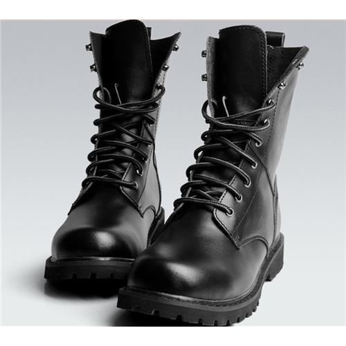 0672e282686 US Size 5.5-10 New Black Combat Leather Lace Up Mens Military Ankle Boots  Shoes