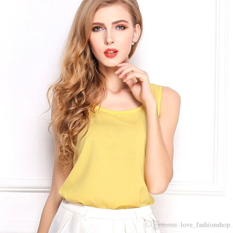 15 ألوان المرأة زائد حجم الشيفون البلوزات قمصان فضفاضة السيدات الكورية الرسن الأعلى تانك الصدرية الكبس قميص قمم المحملات كاميس