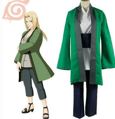 New Arrival Japanese Anime Costume Cosplay NARUTO COSPLAY Tsunade Costume top+coat+pants+waist band for adults Per Set