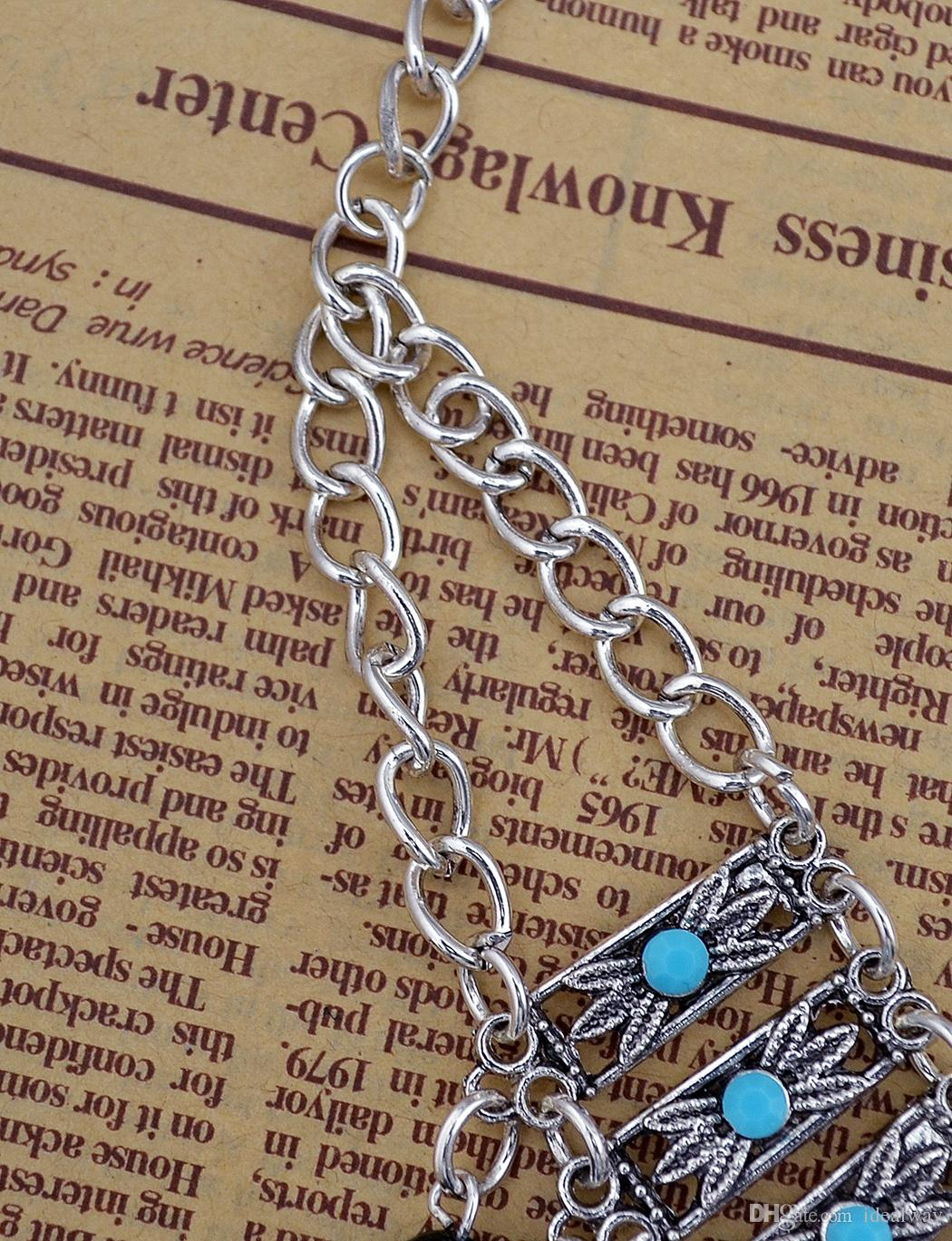 BOHO البوهيمي خمر حزام منحوتة زهرة الخرز الراتنج الجسم الرقص الخصر عملة شرابة قلادة سلسلة مجوهرات