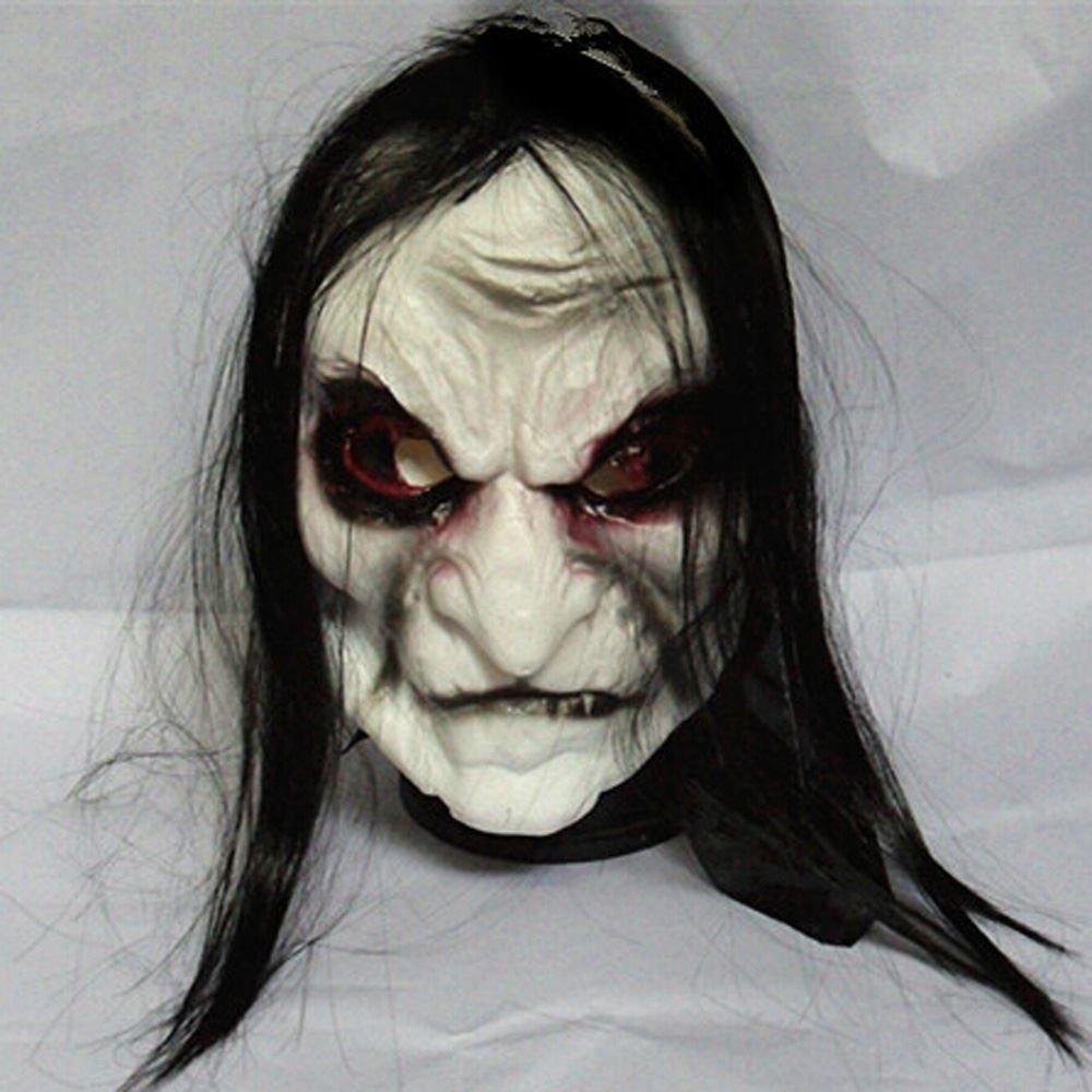 Long Hair Devil Full Head Halloween Mask Scary Ghost