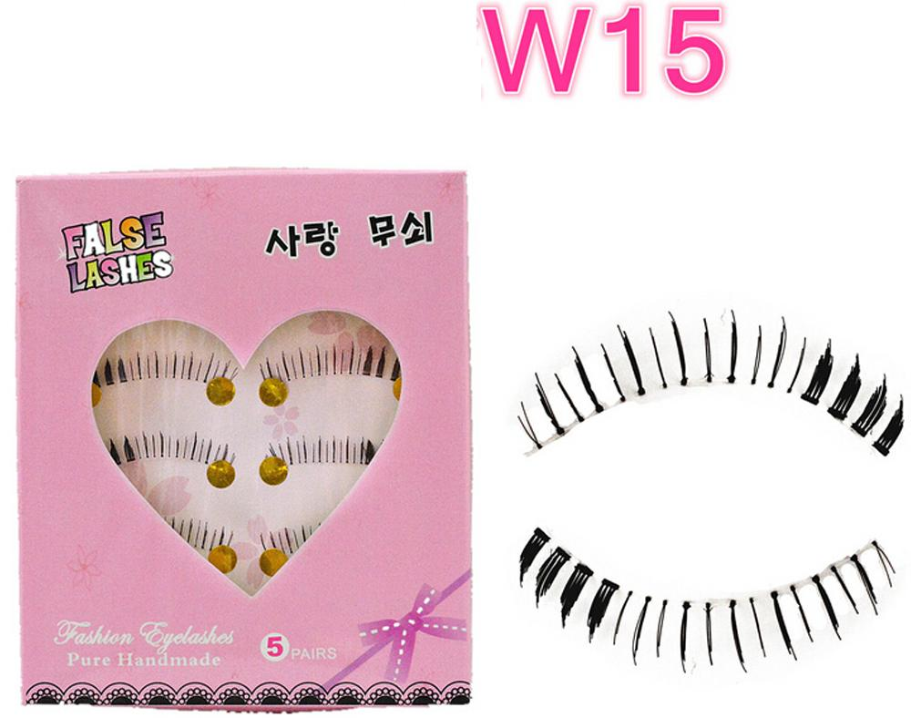 W-15 Natural Reusable False Bottom Eyelashes Lower Lashes Under Lashes