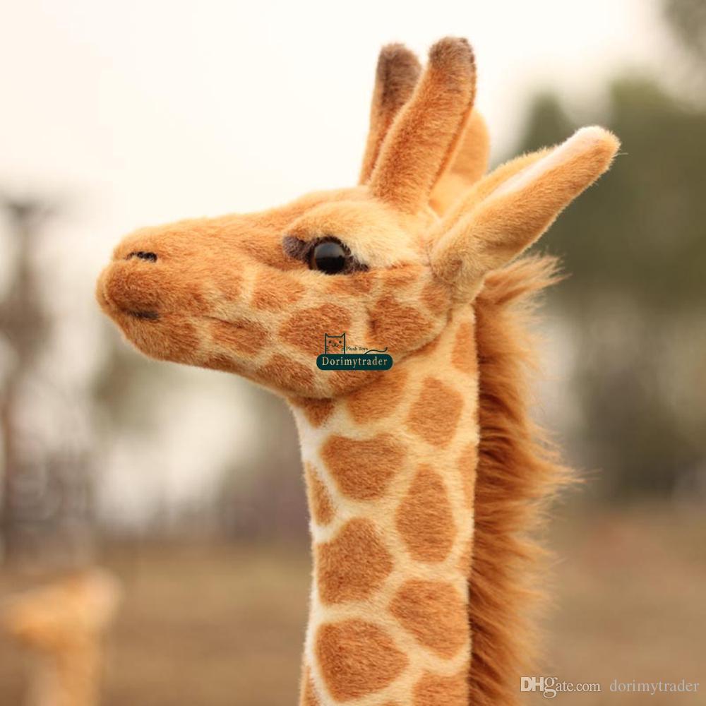 Dorimytrader 55'' / 140cm Large Stuffed Soft Plush Giant Emulational Animal Giraffe Toy, Nice Birthday Gift For Baby, DY60659