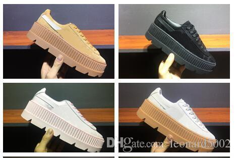 sale retailer bf1c0 1ba9d fenty suede cleated creeper womens