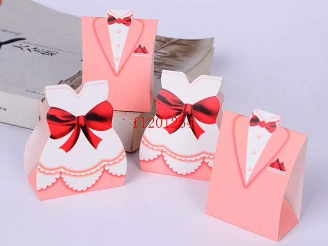 Big Pink Bride and Groom design sweet box candy chocolate boxes For Wedding party Favor gift