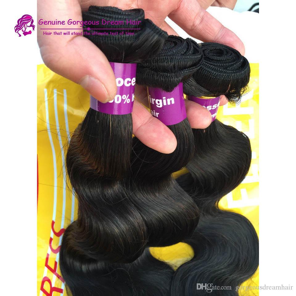 Peruviaanse menselijke haarbody wave 3 bundels natuurlijke kleur # 1b onverwerkte menselijke haar weeft goedkope Peruaanse body wave haar inslagen
