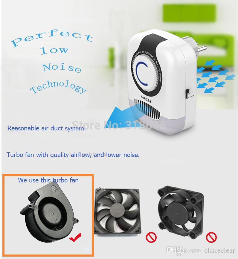 Home Ozone et Anion Purificateur d'air éliminant efficacement les odeurs et améliorant la qualité de la respiration + lumière de nuit + livraison gratuite