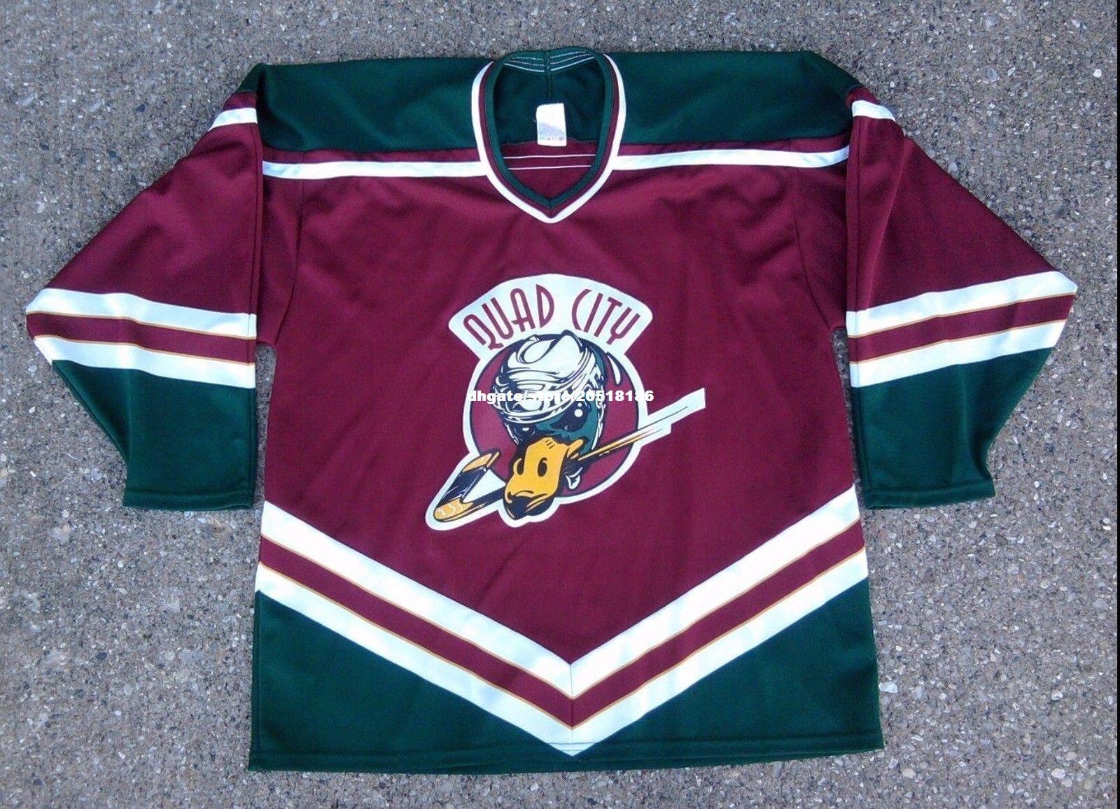 Cheap Custom Quad City Mallards Vintage Bauer Jerseys Burgundy CoHL UHL  Stitched Men S Hockey Jersey UK 2019 From Nfljersey1 cf677dd0a46