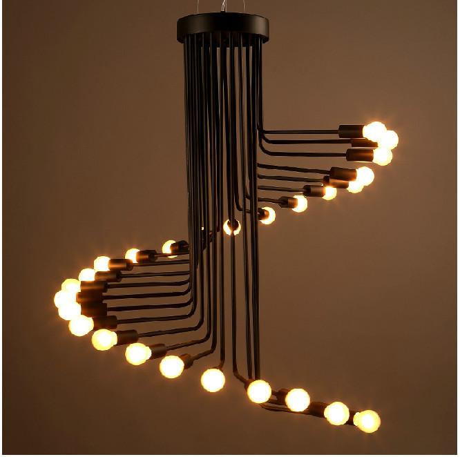 Decorative Pendant Lighting In Loft Retro Creative Spiral E14 Edison Light Bulb Decorative Pendant Lamp Lighting Fixture Glass Blown From Theonlinebasket