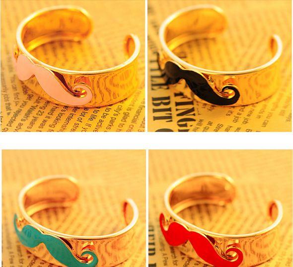Nouveau Bijoux de mode Bracelets Bracelet manchette Charmant bracelet Vintage Style Punk BraceletAvanti Barbe Bracelets Moustache Bracelet 6 couleurs disponible