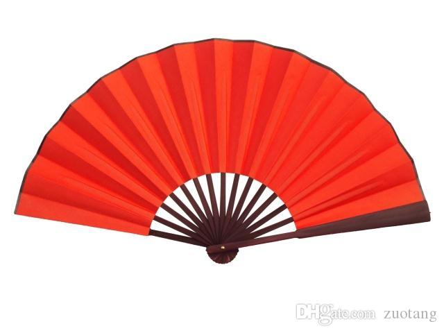 Traditional Craft Chinese White Hand Fans Large Bamboo Silk Folding Fan DIY Portable Red Black Gold Fan Adult Fine Art Painting
