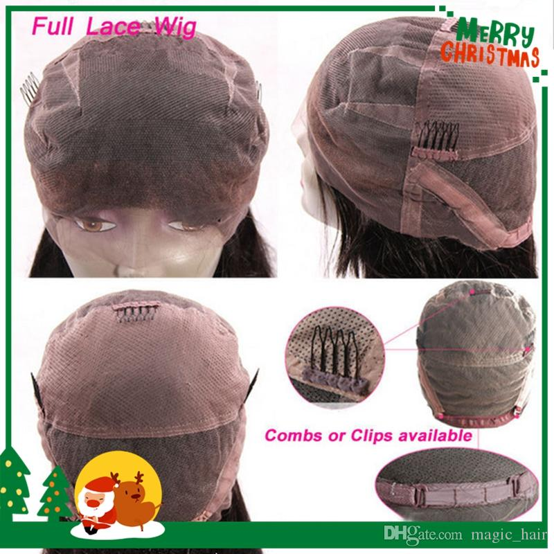 Wet and Wavy Peruvian Virgin Hair Lace Front Wigs Bleached Knots Glueless Full Lace Wigs Water Wave Human Hair Wigs With Baby Hair