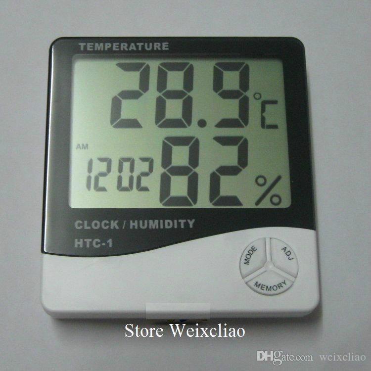 درجة الحرارة الرطوبة المنزلية على مدار الساعة 1 وحدة محفظة  شحن مجاني