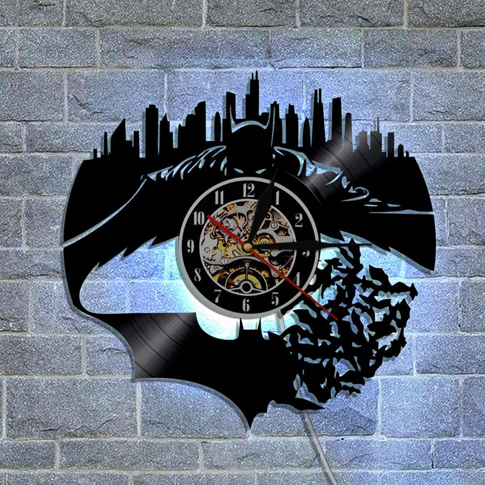 Batman Joker Vinyl Record Wall Clock 3D Modern Design Home Decor ...