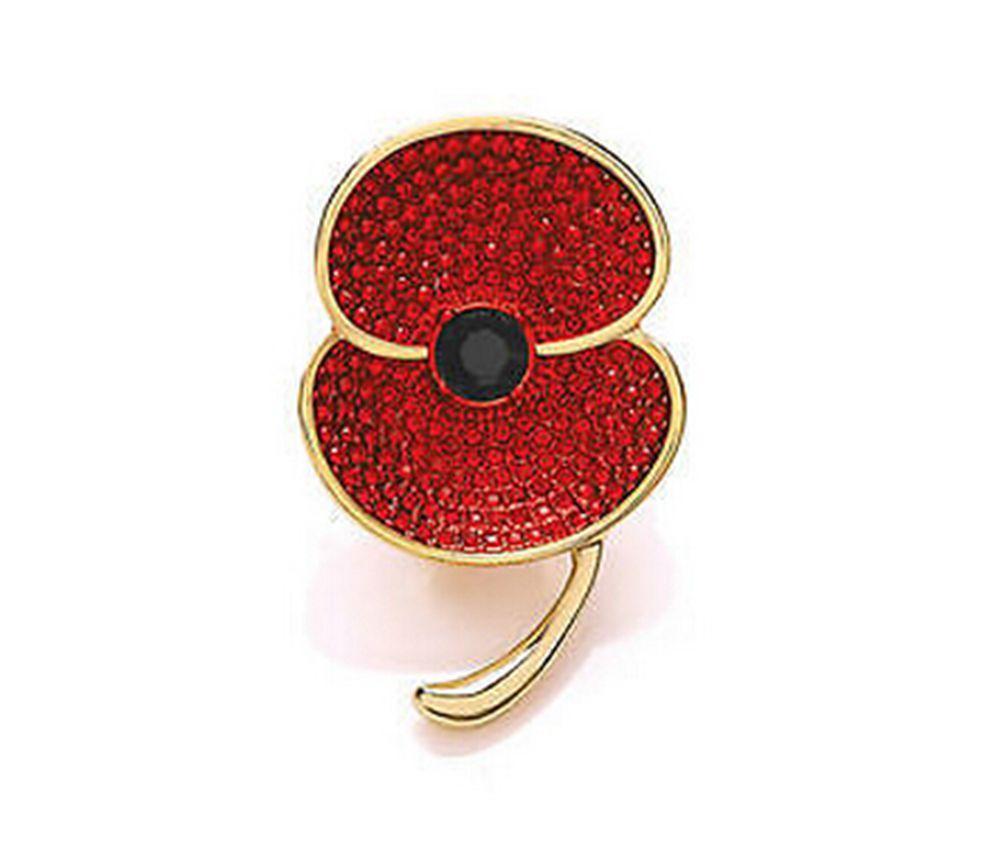 Красный Горный Хрусталь Кристалл Diamante Блестящий Цветок Брошь Булавка Брошь Британский Знак