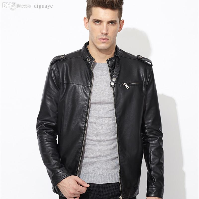 Best Fall Famous Brand Mens Leather Jackets And Coats High Quality ...