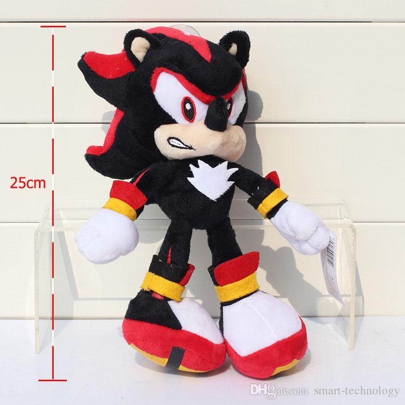 30CM do Sonic Pelúcia O envio Hedgehog Plush Toy Dolls Red azul bichos de pelúcia Brinquedos grátis