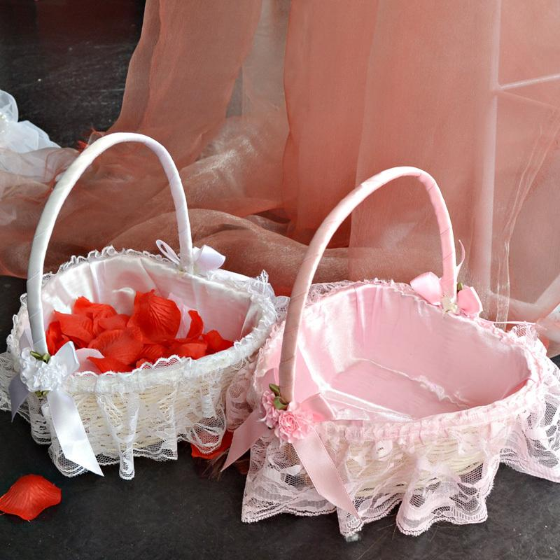 best wedding wedding flower basket creative bridesmaid love flower bud silk flower basket scattered flowers basket of wedding 02 under dhgatecom