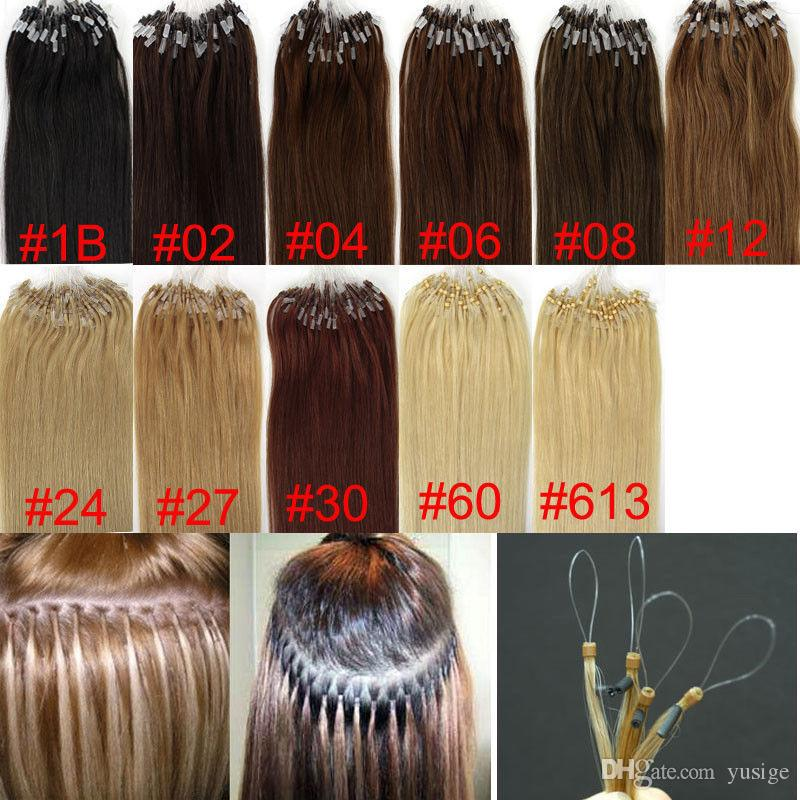 Factory Price Micro Ring Loop Hair Extensions Different Color
