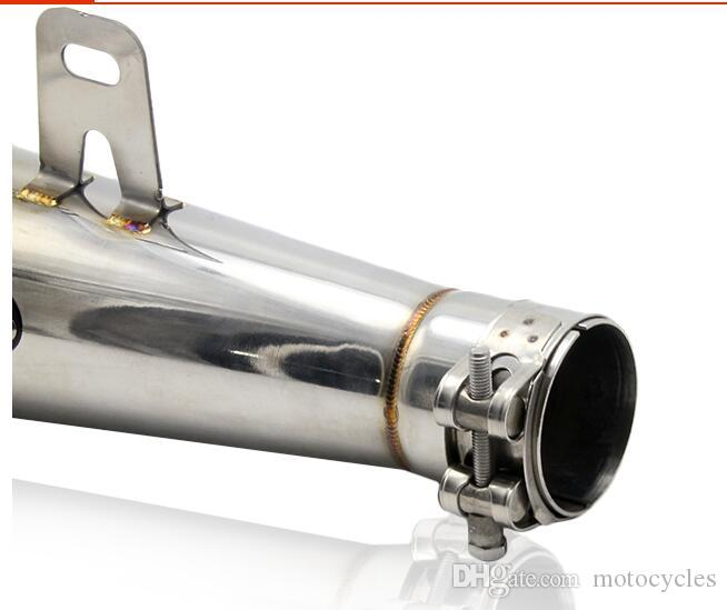 Universal 38-51MM Motorcycle Scooter Exhaust Pipe M4 Escape GP Pot Muffler M4 For Most Motocross Dirt Bike For ATV Z750
