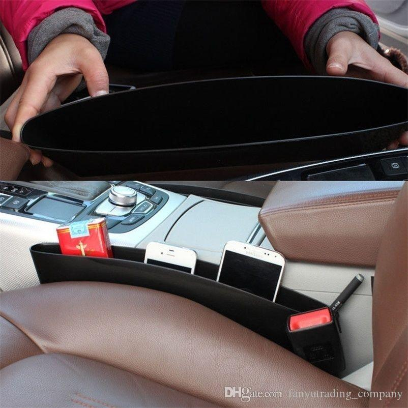 2017 자동차 좌석 간격 저장 상자 자동차 좌석 자동 좌석을위한 자동차 좌석 포켓 포수 주최자 상점을 해방하십시오