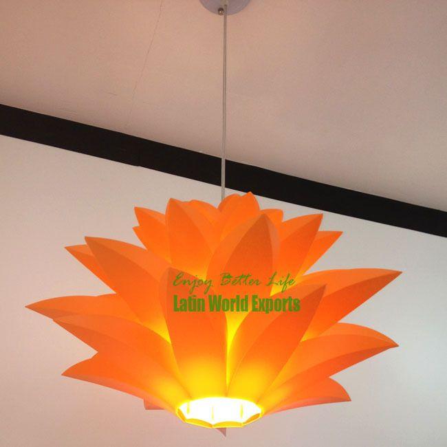 Moderna novidade pendente luzes DIY flor de lótus Lâmpada pingente ...