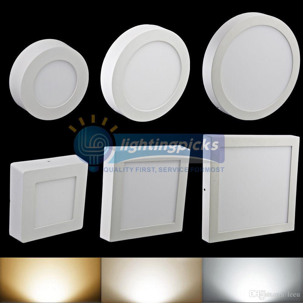 Dimmable 9W 15W 21W Round / Square Led Panel Light Surface Mounted Led Downlight lighting Led ceiling down spotlight AC 110-240V + Driver 50