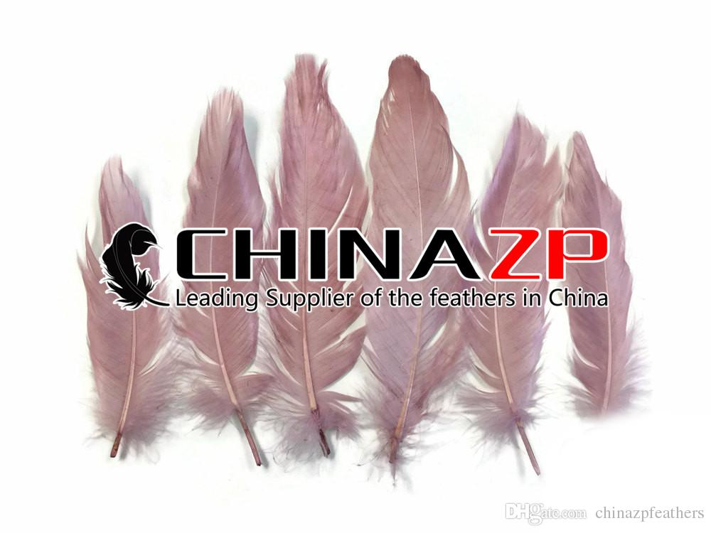 Newest Plumage CHINAZP Crafts Factory 100% Exporting 10~15cm4~6inch Length Pretty Dyed Taupe Goose Loose Feathers for Hair Accessories