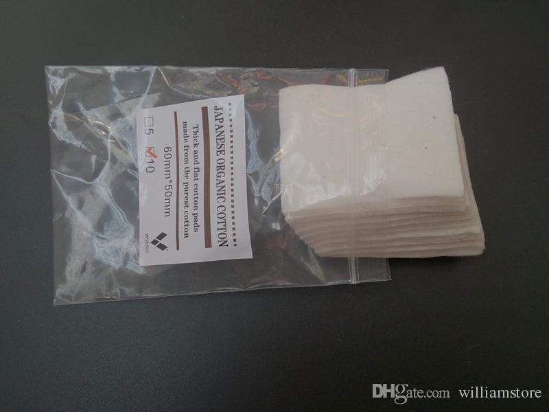 10Packs Originele Vapor Tech Mini Pakket 100% Japans Pure Organic Cotton Wicks Katoen Japan Pads voor DIY RDA RBA Coil 10 stks / partij