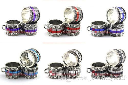 Yeni Tasarım DIY Kolye Eşarp Takı Aksesuarları Metal Charm Kraliyet Mavi Kolye Eşarp Slayt Kefaletler Tüp, Ücretsiz Kargo, AC0381C