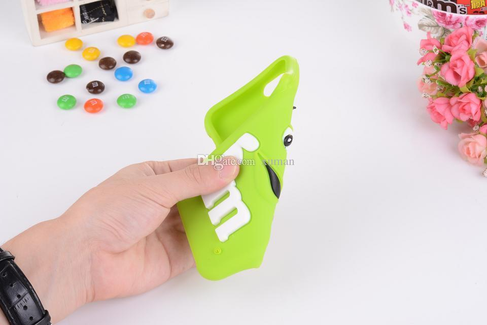 for iphone 6 for iphone 6plus cases M&M's chocolate candy rubber silicone cartoon cell phone case covers