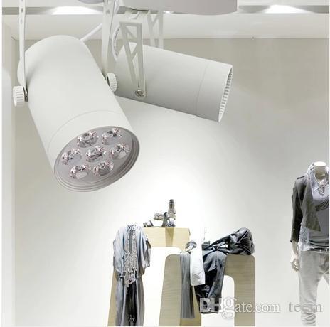 X20 whlosesale الإضاءة الأثاث للملابس 3-18 واط عالية الطاقة أدى ضوء المسار 110 فولت 220 فولت الأبيض للملابس متجر ضوء شحن مجاني