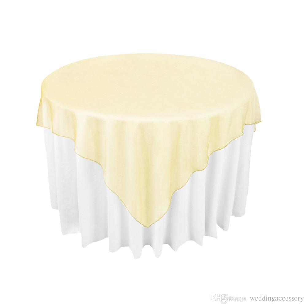 gold organza table overlay cloth 72x72 wedding banquet supply party rh dhgate com