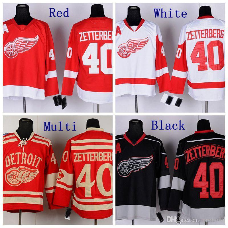 657063f33a1 2019 2014 Winter Classic  40 Henrik Zetterberg Jersey Detroit Red Wings  Hockey Jerseys Red White Black Ice Stitched Jersey A Patch From Probowl