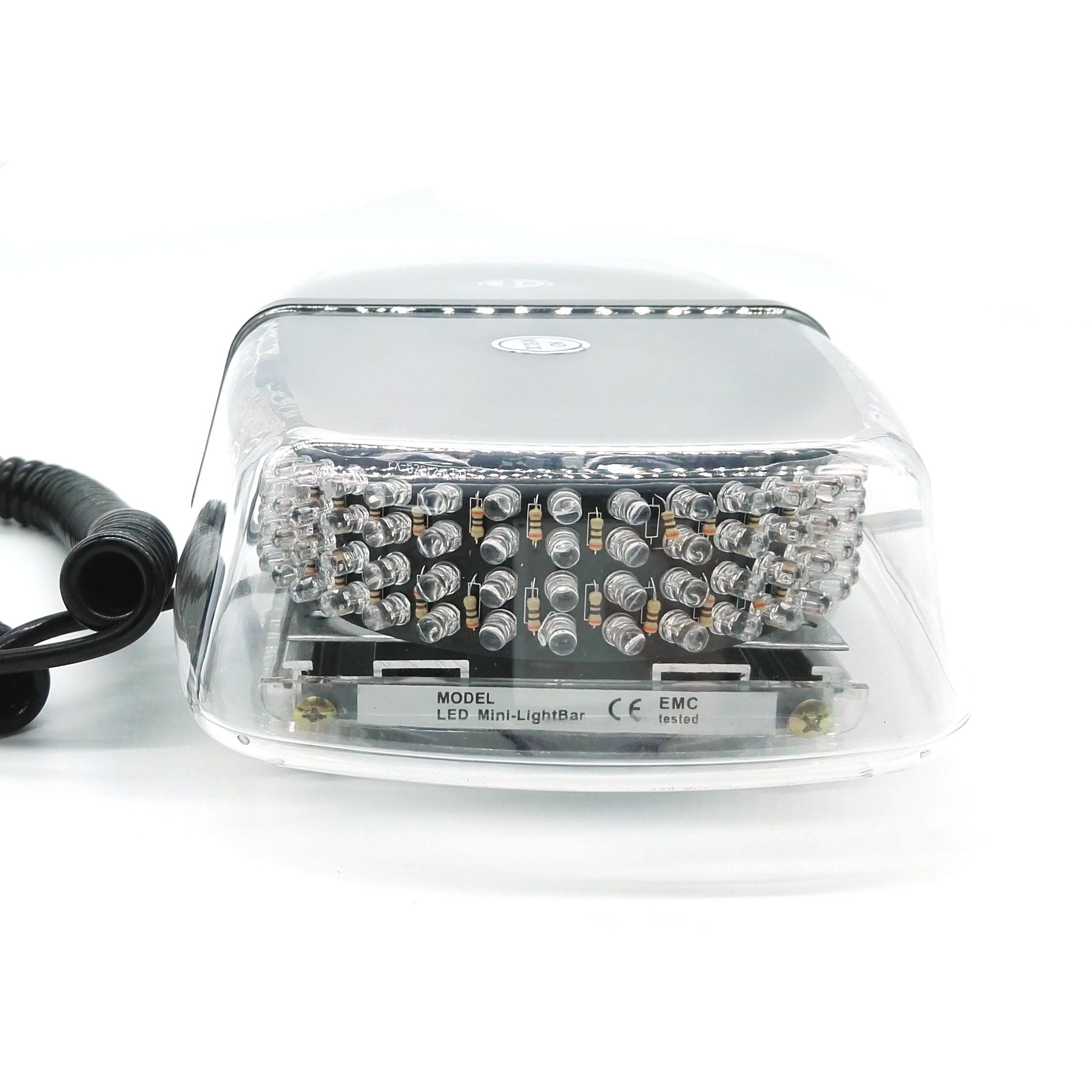 240 LED Emergency Warning Flashing Strobe Light Lamp vehicle Police Car Light DC12V White Yellow / amber