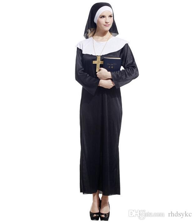 wholesale halloween costumes nun costumes cute sister halloween clothes cosplay party clothes masquerade costumes halloween costumes for women by rhdsykc - Clothes Halloween