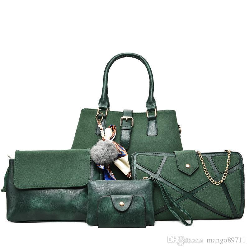 8e58db8953d3 Luxury PU Leather Handbag Composite Bags Set Female Shoulder ...