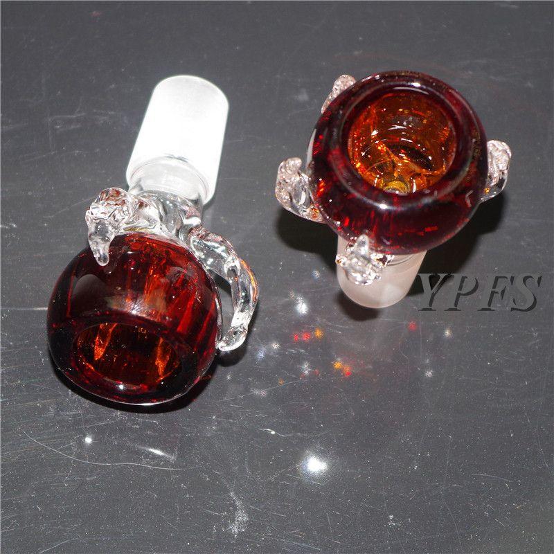 Cuencos de vidrio de calidad para tubos de agua de vidrio imagen real cuencos de vidrio 18.8mmm 14.5mm vidrio bong narguile accesorio para fumar