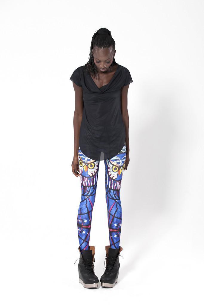 Hot Sale Glass Owl Leggings Milk Supernova Sale Women Digital Printed Pants  Drop Shipping