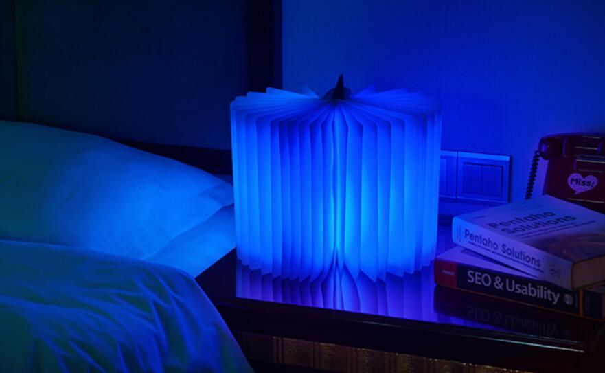 50ピースAバッグ充電フリップブッククリエイティブミニナイトライトLED折り票ライト文学的気質シャンデリア、ベッドサイドランプ