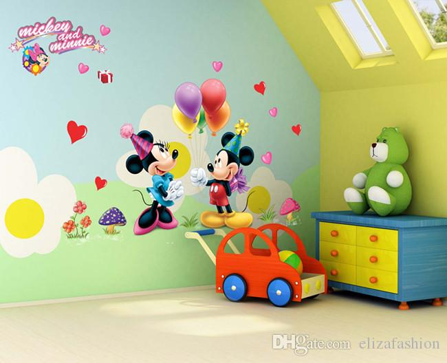 Mickey Mouse Wall Sticker Cartoon Waterproof Removable Wallpaper Posters  Room Décor Wall Decals Poster Decor Kids Nursery Room Tree Stickers For Wall  Tree ...