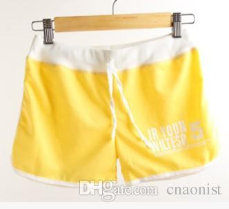 New Sport Shorts Women High Quality Cotton Short Pants 2015 Summer Women's Clothing Printing Letter Casual Candy Colors Ladies Beach shorts