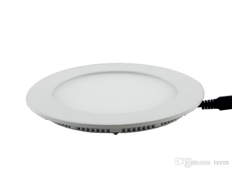 Dimmable Round Led Panel Light SMD 2835 3W 9W 12W 15W 18W 21W 25W 110-240V Led Ceiling Recessed down lamp SMD2835 downlight + driver