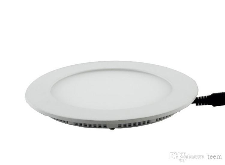 Luz do painel do diodo emissor de luz redonda DHL Dimmable SMD 2835 3W 9W 12W 15W 18W 21W 25W 110-240V LED que recuou a lâmpada SMD2835 Downlight