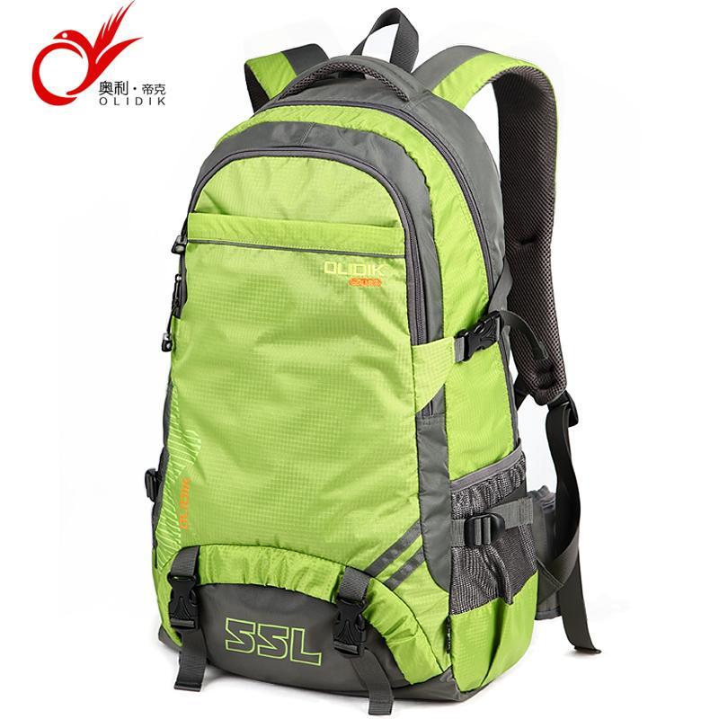 17b3ae1fea3b Wholesale- OLIDIK Waterproof Travel Backpack Camp Hike Masculina Laptop  Daypack Trekking Back Bags For Men Women 55L Nylon Backpack Bag