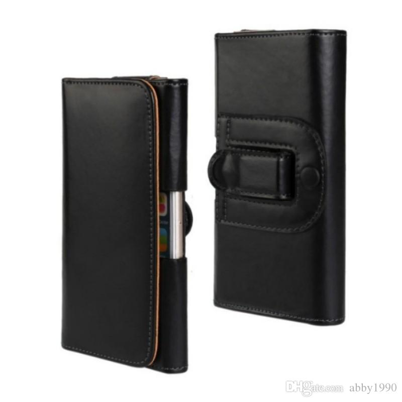 Estuche universal con clip para el cinturón PU de cuero, soporte de cintura, funda con tapa para Huawei Y6 2018 / Ascend XT2 / Maimang 6