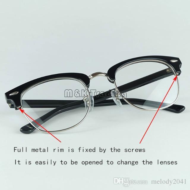 Высочайшее Качество Real Acetate 5154 Дизайнерские Очки Профессиональная Оптическая Рамка 51 мм Размер 4 Цвета Легко Менять Линзы