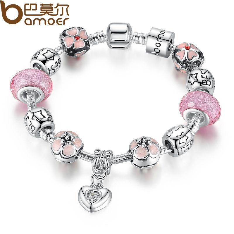 with women wholesale vintage wedding product friendship bracelet pendant pandora design for antique bangle charm silver heart jewelry new beads