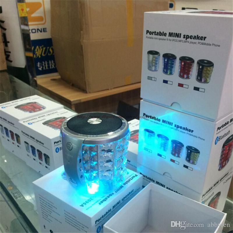 T2096A Super Loud Portable Wireless Bluetooth Speaker Computer Speakers LED Flashing Microphone for iPhone Hi Fi Boxes Super Bass Speaker